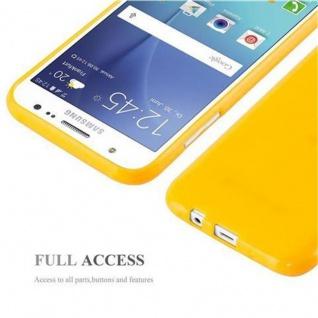 Cadorabo Hülle für Samsung Galaxy J5 2015 in JELLY GELB - Handyhülle aus flexiblem TPU Silikon - Silikonhülle Schutzhülle Ultra Slim Soft Back Cover Case Bumper - Vorschau 5