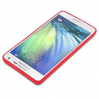 Cadorabo Hülle für Samsung Galaxy A5 2015 in CANDY ROT - Handyhülle aus flexiblem TPU Silikon - Silikonhülle Schutzhülle Ultra Slim Soft Back Cover Case Bumper - Vorschau 3
