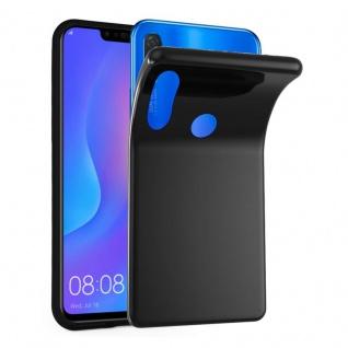 Cadorabo Hülle für Huawei P SMART PLUS in SCHWARZ - Handyhülle aus flexiblem TPU Silikon - Silikonhülle Schutzhülle Ultra Slim Soft Back Cover Case Bumper