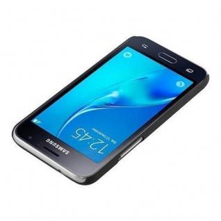 Cadorabo Hülle für Samsung Galaxy J1 2016 in WOODY BLAU ? Hardcase Handyhülle aus Plastik gegen Kratzer und Stöße ? Schutzhülle Bumper Ultra Slim Back Case Hard Cover - Vorschau 3