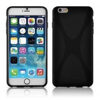 Cadorabo Hülle für Apple iPhone 6 PLUS / iPhone 6S PLUS - Hülle in OXID SCHWARZ ? Handyhülle aus flexiblem TPU Silikon im X-Line Design - Ultra Slim Soft Backcover Case Bumper