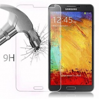 Cadorabo Panzer Folie für Samsung Galaxy NOTE 3 - Schutzfolie in KRISTALL KLAR - Gehärtetes (Tempered) Display-Schutzglas in 9H Härte mit 3D Touch Kompatibilität - Vorschau 3