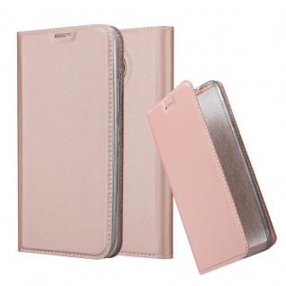 Cadorabo Hülle für Motorola MOTO G5S PLUS in CLASSY ROSÉ GOLD - Handyhülle mit Magnetverschluss, Standfunktion und Kartenfach - Case Cover Schutzhülle Etui Tasche Book Klapp Style