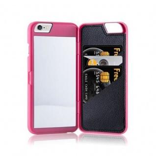 Cadorabo - TPU Hard Cover für Apple iPhone 6 / iPhone 6S mit Muster, Spiegel und 3 Kartenfächer in PINK - Vorschau 5