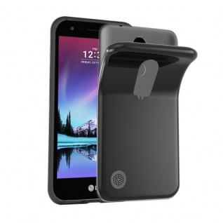 Cadorabo Hülle für LG K4 2017 in SCHWARZ - Handyhülle aus flexiblem TPU Silikon - Silikonhülle Schutzhülle Ultra Slim Soft Back Cover Case Bumper