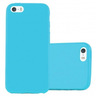 Cadorabo Hülle für Apple iPhone 5 / iPhone 5S / iPhone SE in JELLY HELL BLAU - Handyhülle aus flexiblem TPU Silikon - Silikonhülle Schutzhülle Ultra Slim Soft Back Cover Case Bumper
