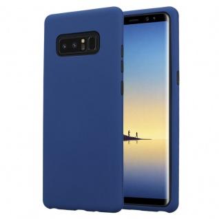 Cadorabo Hülle für Samsung Galaxy NOTE 8 in DUNKEL BLAU Hybrid Handyhülle mit TPU Silikon Innenseite und 2teiliger Kunststoff Außenseite Schutzhülle Hybrid Hardcase Back Case