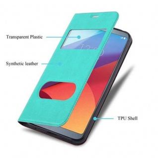 Cadorabo Hülle für LG G6 in MINT TÜRKIS ? Handyhülle mit Magnetverschluss, Standfunktion und 2 Sichtfenstern ? Case Cover Schutzhülle Etui Tasche Book Klapp Style - Vorschau 3