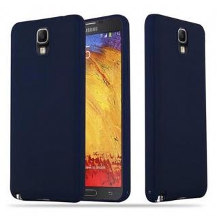 Cadorabo Hülle für Samsung Galaxy NOTE 3 in CANDY DUNKEL BLAU - Handyhülle aus flexiblem TPU Silikon - Silikonhülle Schutzhülle Ultra Slim Soft Back Cover Case Bumper