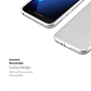 Cadorabo Hülle für Samsung Galaxy A3 2017 in METALLIC SILBER - Handyhülle aus flexiblem TPU Silikon - Silikonhülle Schutzhülle Ultra Slim Soft Back Cover Case Bumper - Vorschau 2