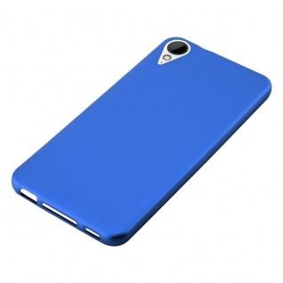 Cadorabo Hülle für HTC 10 LIFESTYLE / DESIRE 825 in METALLIC BLAU - Handyhülle aus flexiblem TPU Silikon - Silikonhülle Schutzhülle Ultra Slim Soft Back Cover Case Bumper - Vorschau 5