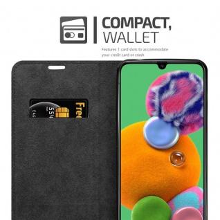 Cadorabo Hülle für Samsung Galaxy A90 5G in KAFFEE BRAUN - Handyhülle mit Magnetverschluss, Standfunktion und Kartenfach - Case Cover Schutzhülle Etui Tasche Book Klapp Style - Vorschau 3