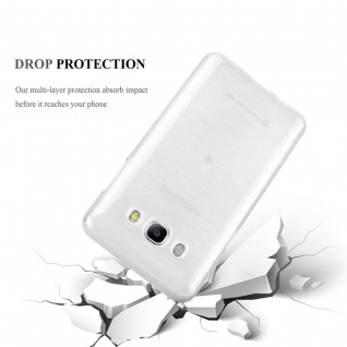Cadorabo Hülle für Samsung Galaxy J7 2016 in SILBER - Handyhülle aus flexiblem TPU Silikon - Silikonhülle Schutzhülle Ultra Slim Soft Back Cover Case Bumper - Vorschau 3