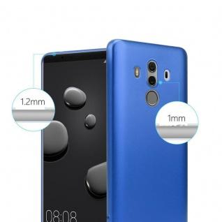 Cadorabo Hülle für Huawei MATE 10 PRO in METALLIC BLAU - Handyhülle aus flexiblem TPU Silikon - Silikonhülle Schutzhülle Ultra Slim Soft Back Cover Case Bumper - Vorschau 4