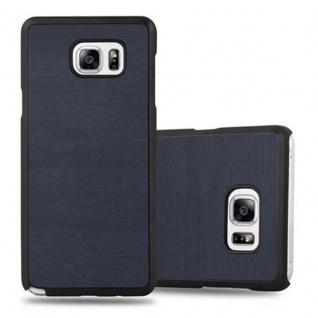 Cadorabo Hülle für Samsung Galaxy NOTE 5 in WOODY BLAU - Hardcase Handyhülle aus Plastik gegen Kratzer und Stöße - Schutzhülle Bumper Ultra Slim Back Case Hard Cover