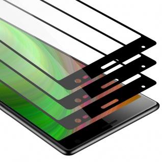 Cadorabo 3x Vollbild Panzer Folie für Sony Xperia 10 - Schutzfolie in TRANSPARENT mit SCHWARZ - 3er Pack Gehärtetes (Tempered) Display-Schutzglas in 9H Härte mit 3D Touch