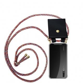 Cadorabo Handy Kette für Huawei P20 in COLORFUL PARROT - Silikon Necklace Umhänge Hülle mit Gold Ringen, Kordel Band Schnur und abnehmbarem Etui ? Schutzhülle