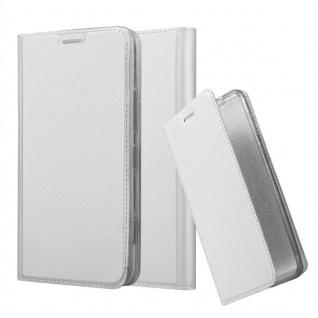 Cadorabo Hülle für Nokia Lumia 1320 in CLASSY SILBER - Handyhülle mit Magnetverschluss, Standfunktion und Kartenfach - Case Cover Schutzhülle Etui Tasche Book Klapp Style