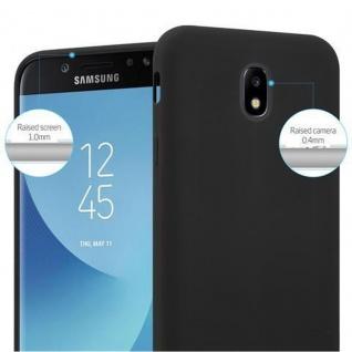 Cadorabo Hülle für Samsung Galaxy J3 2017 in CANDY SCHWARZ - Handyhülle aus flexiblem TPU Silikon - Silikonhülle Schutzhülle Ultra Slim Soft Back Cover Case Bumper - Vorschau 5