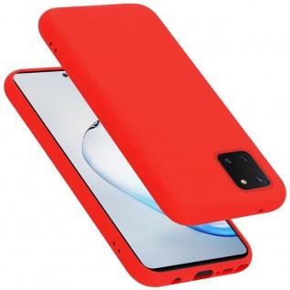 Cadorabo Hülle für Samsung Galaxy A81 / NOTE 10 LITE / M60S in LIQUID ROT Handyhülle aus flexiblem TPU Silikon Silikonhülle Schutzhülle Ultra Slim Soft Back Cover Case Bumper