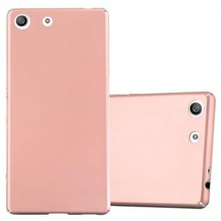 Cadorabo Hülle für Sony Xperia M5 - Hülle in METALL ROSE GOLD ? Hardcase Handyhülle im Matt Metal Design - Schutzhülle Bumper Back Case Cover
