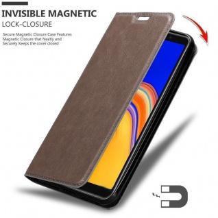 Cadorabo Hülle für Samsung Galaxy A6S in KAFFEE BRAUN - Handyhülle mit Magnetverschluss, Standfunktion und Kartenfach - Case Cover Schutzhülle Etui Tasche Book Klapp Style - Vorschau 3