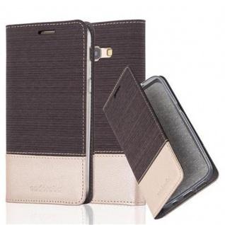 Cadorabo Hülle für Samsung Galaxy A5 2017 in ANTRAZIT GOLD - Handyhülle mit Magnetverschluss, Standfunktion und Kartenfach - Case Cover Schutzhülle Etui Tasche Book Klapp Style