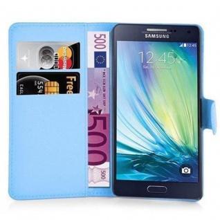 Cadorabo Hülle für Samsung Galaxy J5 2015 in PASTEL BLAU - Handyhülle mit Magnetverschluss, Standfunktion und Kartenfach - Case Cover Schutzhülle Etui Tasche Book Klapp Style - Vorschau 5