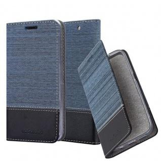 Cadorabo Hülle für Sony Xperia C4 in DUNKEL BLAU SCHWARZ - Handyhülle mit Magnetverschluss, Standfunktion und Kartenfach - Case Cover Schutzhülle Etui Tasche Book Klapp Style