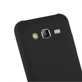 Cadorabo Hülle für Samsung Galaxy J5 2015 in CANDY SCHWARZ - Handyhülle aus flexiblem TPU Silikon - Silikonhülle Schutzhülle Ultra Slim Soft Back Cover Case Bumper - Vorschau 5