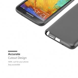 Cadorabo Hülle für Samsung Galaxy NOTE 3 in METALLIC GRAU - Handyhülle aus flexiblem TPU Silikon - Silikonhülle Schutzhülle Ultra Slim Soft Back Cover Case Bumper - Vorschau 2