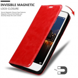 Cadorabo Hülle für ZTE Nubia N2 in APFEL ROT Handyhülle mit Magnetverschluss, Standfunktion und Kartenfach Case Cover Schutzhülle Etui Tasche Book Klapp Style - Vorschau 3