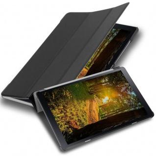 """Cadorabo Tablet Hülle für Samsung Galaxy Tab A (10, 5"""" Zoll) T590 in SATIN SCHWARZ Ultra Dünne Book Style Schutzhülle mit Auto Wake Up und Standfunktion aus Kunstleder"""