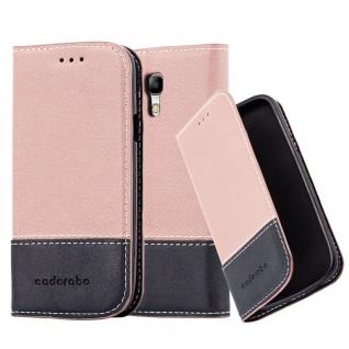 Cadorabo Hülle für Samsung Galaxy S3 MINI in GOLD SCHWARZ ? Handyhülle mit Magnetverschluss, Standfunktion und Kartenfach ? Case Cover Schutzhülle Etui Tasche Book Klapp Style