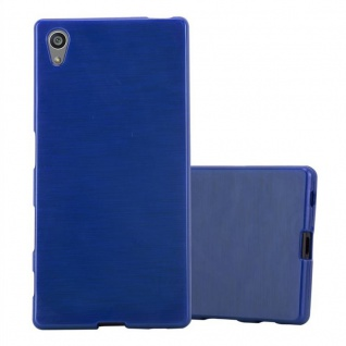 Cadorabo Hülle für Sony Xperia Z5 in BLAU - Handyhülle aus flexiblem TPU Silikon - Silikonhülle Schutzhülle Ultra Slim Soft Back Cover Case Bumper