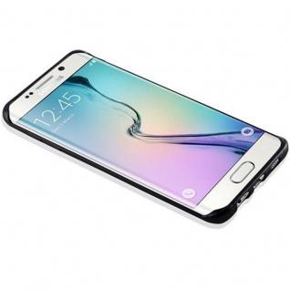 Cadorabo Hülle für Samsung Galaxy S6 EDGE PLUS in SCHWARZ - Handyhülle aus flexiblem TPU Silikon - Silikonhülle Schutzhülle Ultra Slim Soft Back Cover Case Bumper - Vorschau 3