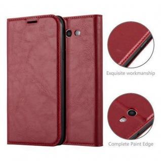 Cadorabo Hülle für Samsung Galaxy J3 2017 US Version in APFEL ROT - Handyhülle mit Magnetverschluss, Standfunktion und Kartenfach - Case Cover Schutzhülle Etui Tasche Book Klapp Style - Vorschau 2