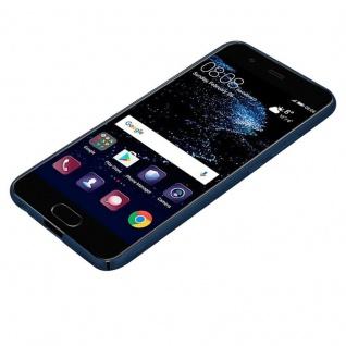 Cadorabo Hülle für Huawei P10 in METALL BLAU - Hardcase Handyhülle aus Plastik gegen Kratzer und Stöße - Schutzhülle Bumper Ultra Slim Back Case Hard Cover - Vorschau 3