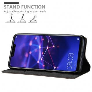 Cadorabo Hülle für Huawei MATE 20 LITE in KAFFEE BRAUN - Handyhülle mit Magnetverschluss, Standfunktion und Kartenfach - Case Cover Schutzhülle Etui Tasche Book Klapp Style - Vorschau 4