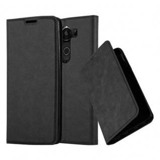 Cadorabo Hülle für LG V10 in NACHT SCHWARZ - Handyhülle mit Magnetverschluss, Standfunktion und Kartenfach - Case Cover Schutzhülle Etui Tasche Book Klapp Style
