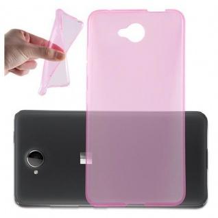 Cadorabo Hülle für Nokia Lumia 650 - Hülle in TRANSPARENT PINK ? Handyhülle aus TPU Silikon im Ultra Slim 'AIR' Design - Ultra Slim Soft Backcover Case Bumper