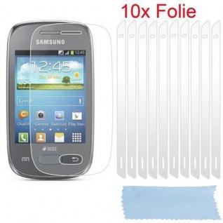 Cadorabo Displayschutzfolien für Samsung Galaxy POCKET NEO - Schutzfolien in HIGH CLEAR ? 10 Stück hochtransparenter Schutzfolien gegen Staub, Schmutz und Kratzer