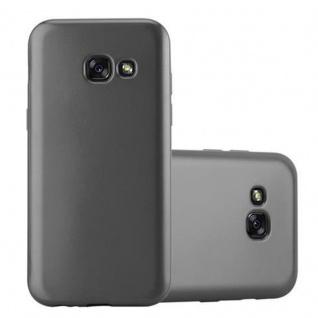 Cadorabo Hülle für Samsung Galaxy A3 2017 in METALLIC GRAU - Handyhülle aus flexiblem TPU Silikon - Silikonhülle Schutzhülle Ultra Slim Soft Back Cover Case Bumper