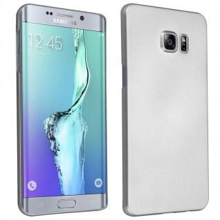 Cadorabo Hülle für Samsung Galaxy S6 EDGE PLUS in METALL SILBER ? Hardcase Handyhülle aus Plastik gegen Kratzer und Stöße ? Schutzhülle Bumper Ultra Slim Back Case Hard Cover