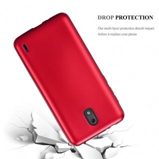 Cadorabo Hülle für Nokia 2 2017 in METALLIC ROT - Handyhülle aus flexiblem TPU Silikon - Silikonhülle Schutzhülle Ultra Slim Soft Back Cover Case Bumper - Vorschau 3