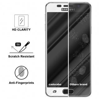 Cadorabo Vollbild Panzer Folie für Samsung Galaxy A5 2016 - Schutzfolie in TRANSPARENT mit WEISS - Gehärtetes (Tempered) Display-Schutzglas in 9H Härte mit 3D Touch Kompatibilität - Vorschau 3