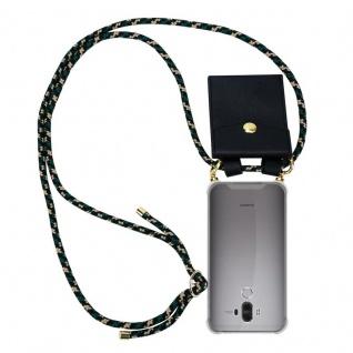 Cadorabo Handy Kette für Huawei MATE 9 in CAMOUFLAGE Silikon Necklace Umhänge Hülle mit Gold Ringen, Kordel Band Schnur und abnehmbarem Etui Schutzhülle