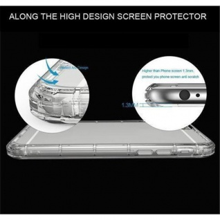 Cadorabo Hülle für Nokia Lumia 650 - Hülle in TRANSPARENT BLAU ? Handyhülle aus TPU Silikon im Ultra Slim 'AIR' Design - Ultra Slim Soft Backcover Case Bumper