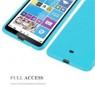 Cadorabo Hülle für Nokia Lumia 1320 in JELLY HELL BLAU - Handyhülle aus flexiblem TPU Silikon - Silikonhülle Schutzhülle Ultra Slim Soft Back Cover Case Bumper - Vorschau 4