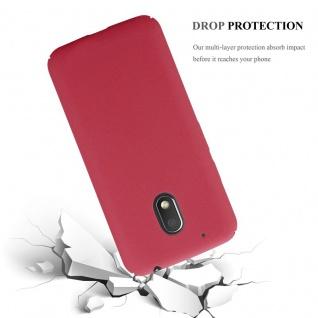 Cadorabo Hülle für Motorola MOTO G4 PLAY in FROSTY ROT - Hardcase Handyhülle aus Plastik gegen Kratzer und Stöße - Schutzhülle Bumper Ultra Slim Back Case Hard Cover - Vorschau 5